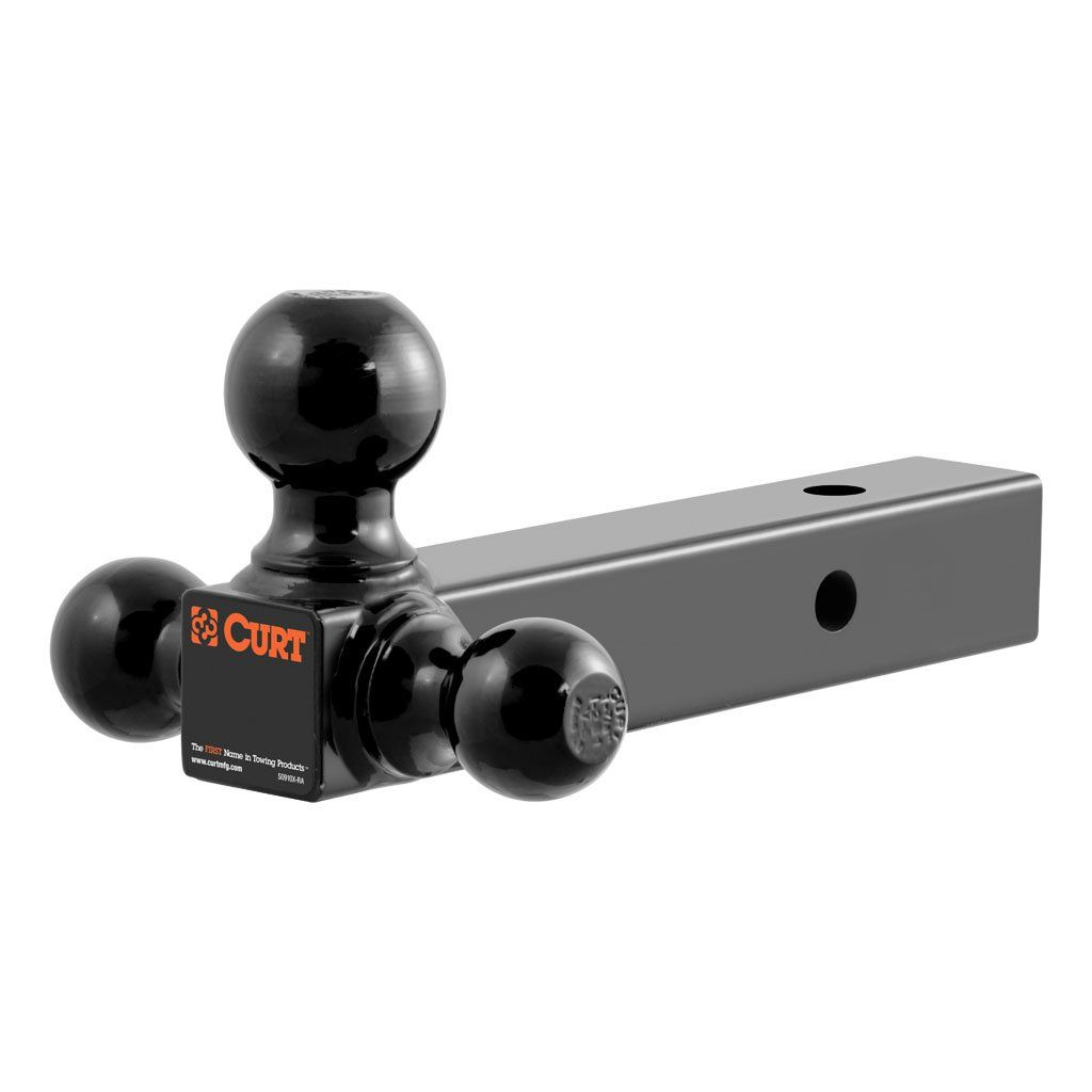 Multi Ball Mount 2 Solid Shank 1 7 8 2 2 5 16 Black Balls Sku 45650 For 76 67 By Curt Manufacturing