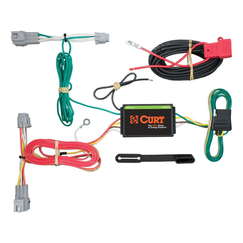 Custom Wiring Harness 4 Way Flat Output Sku 56243 For 93 47 By Curt Manufacturing