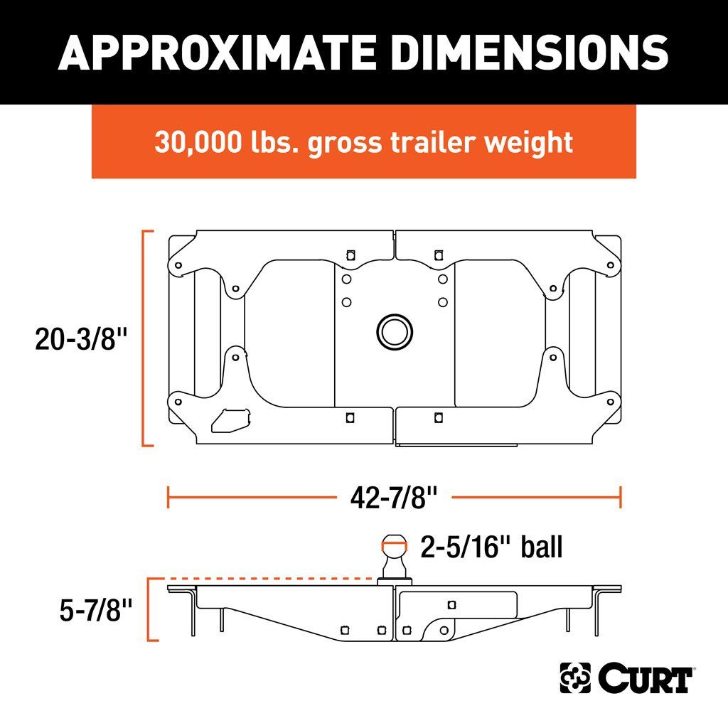 OEM-Style Gooseneck Hitch for Ford SKU #60700 for $728.59 by CURT  Manufacturing | Ford F 350 Gooseneck Trailer Wiring Diagram |  | CURT