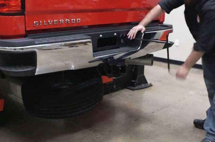 5th Wheel Install - Remove Spare Tire