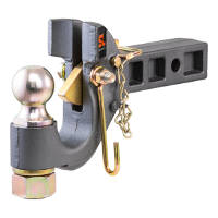 CURT SecureLatch Ball Pintle Receiver Hitch - 48407