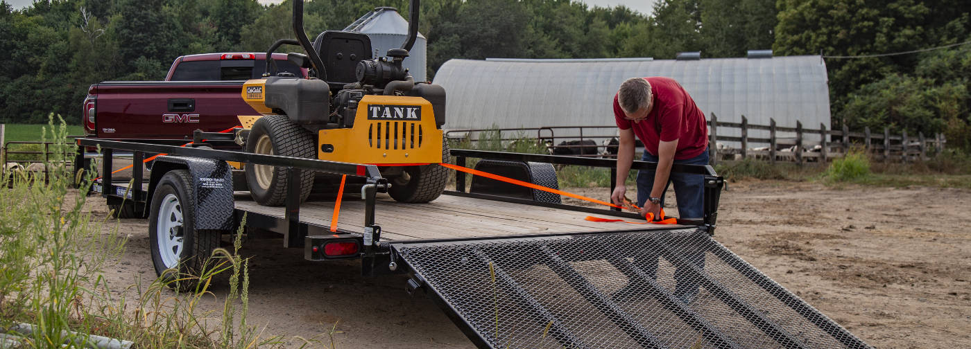 Cargo Trailer Tie Downs with Straps
