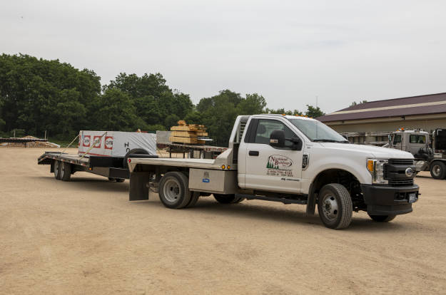 Commercial Towing - Work Truck with Flatbed