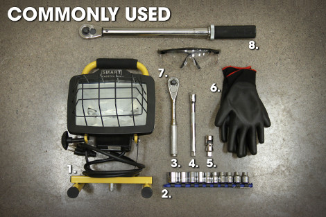 Commonly Used Tools for Receiver Hitch Installation