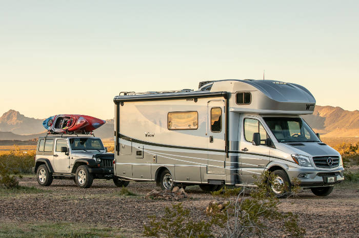 Flat Towing a Jeep behind an RV