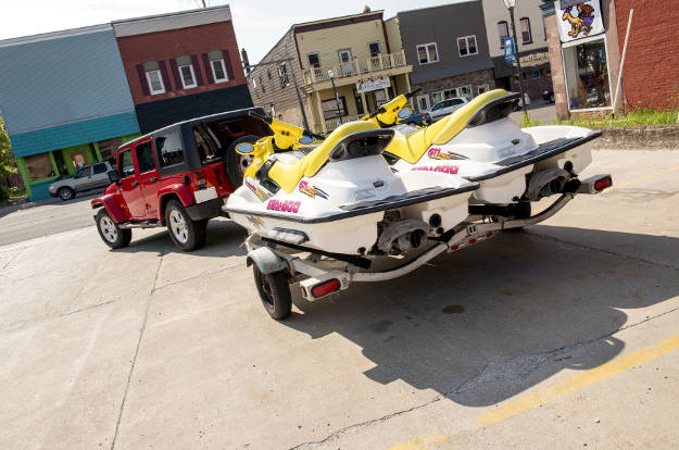 Jeep Jet Ski Trailer Towing for Beginners