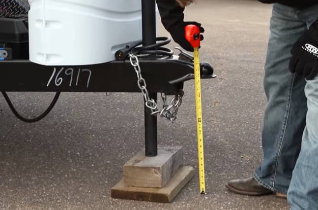 Measure Trailer Height for Weight Distribution