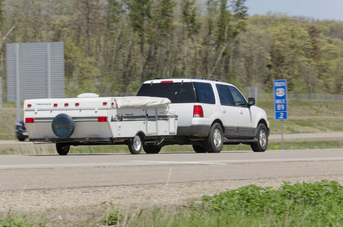 SUV Towing Pop Up Camper