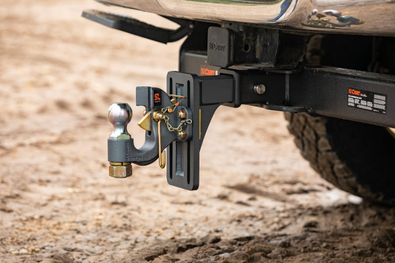 SecureLatch Adjustable Pintle Hitch with Back Plate