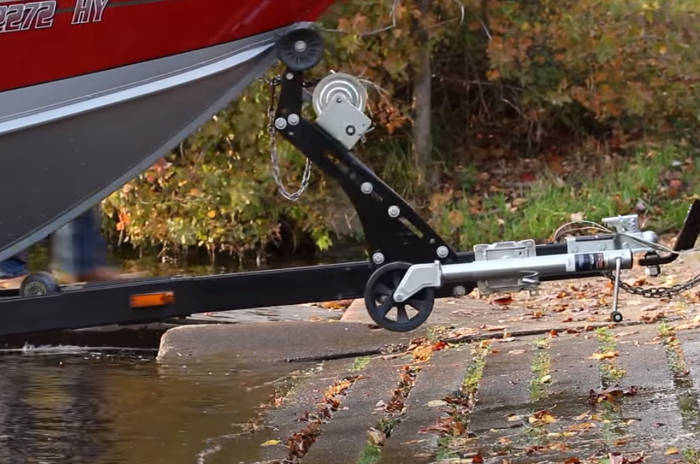 Stop Vehicle Before Trailer Tongue in Water