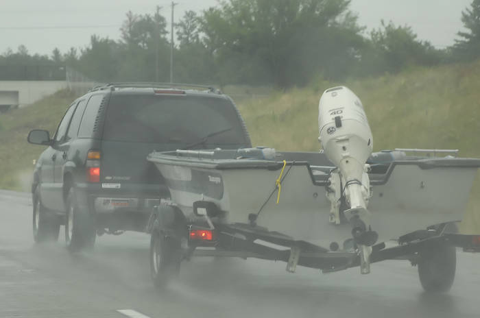 Towing Trailer in Bad Weather
