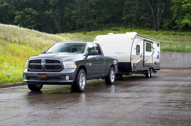 Truck Towing Travel Trailer Camper