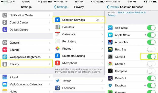 iPhone Location Services Path