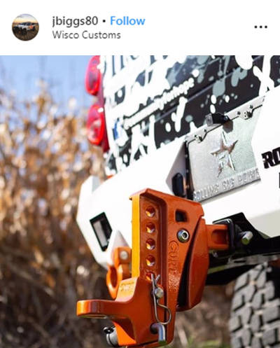jbiggs80 Wisco Customs Instagram Orange Rebellion XD Hitch
