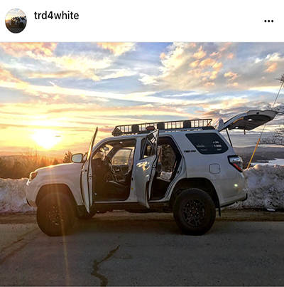 trd4white Instagram CURT Rooftop Cargo Carrier